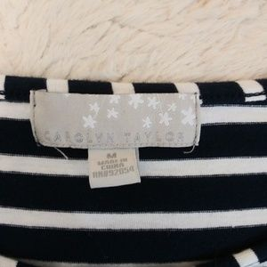 Carolyn Taylor Tops - Carolyn Taylor Navy stripe embroidered top